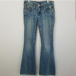 True religion #503 twisted flare jeans 32 inseam